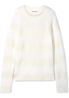 T by Alexander Wang Striped Wool-blend Sweater