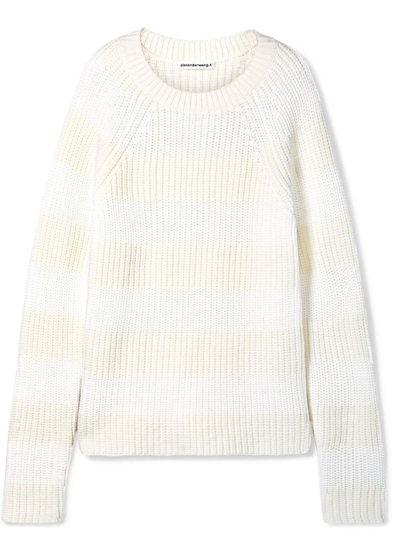 T by Alexander Wang Striped Wool-blend Sweater