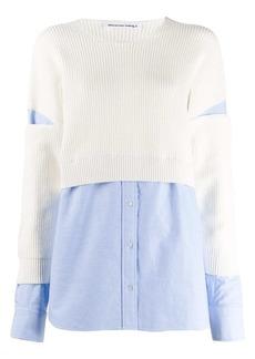 T by Alexander Wang sweater-overlay shirt
