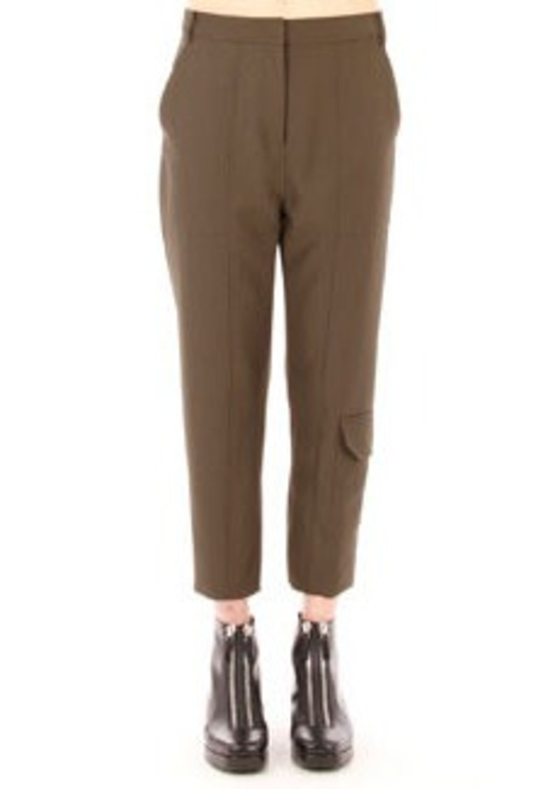 T by Alexander Wang Sleek Cropped Cargo Pants