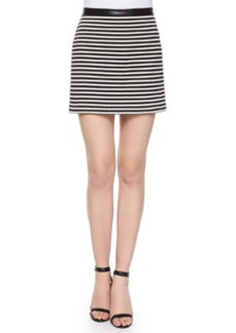T by Alexander Wang Twisted Striped Mini Skirt