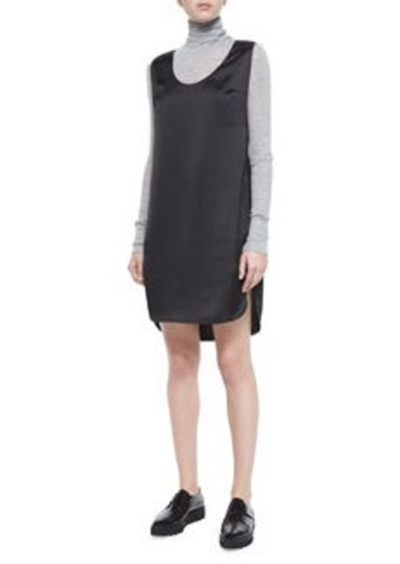 T by Alexander Wang Satin Sleeveless Tank Dress