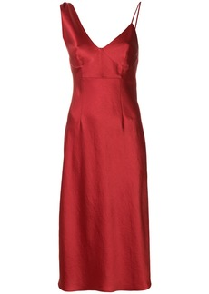 T By Alexander Wang asymmetric slip dress - Red
