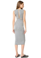 T by Alexander Wang Back Slits Sleeveless Dress