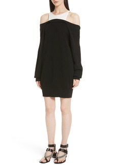 T by Alexander Wang Bi-Layer Knit Dress with Inner Tank