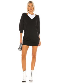 T by Alexander Wang Bi Layer Sweater Dress