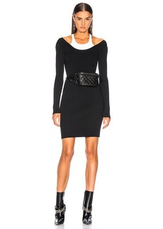 T by Alexander Wang Bodycon Bi Layer Mini Dress