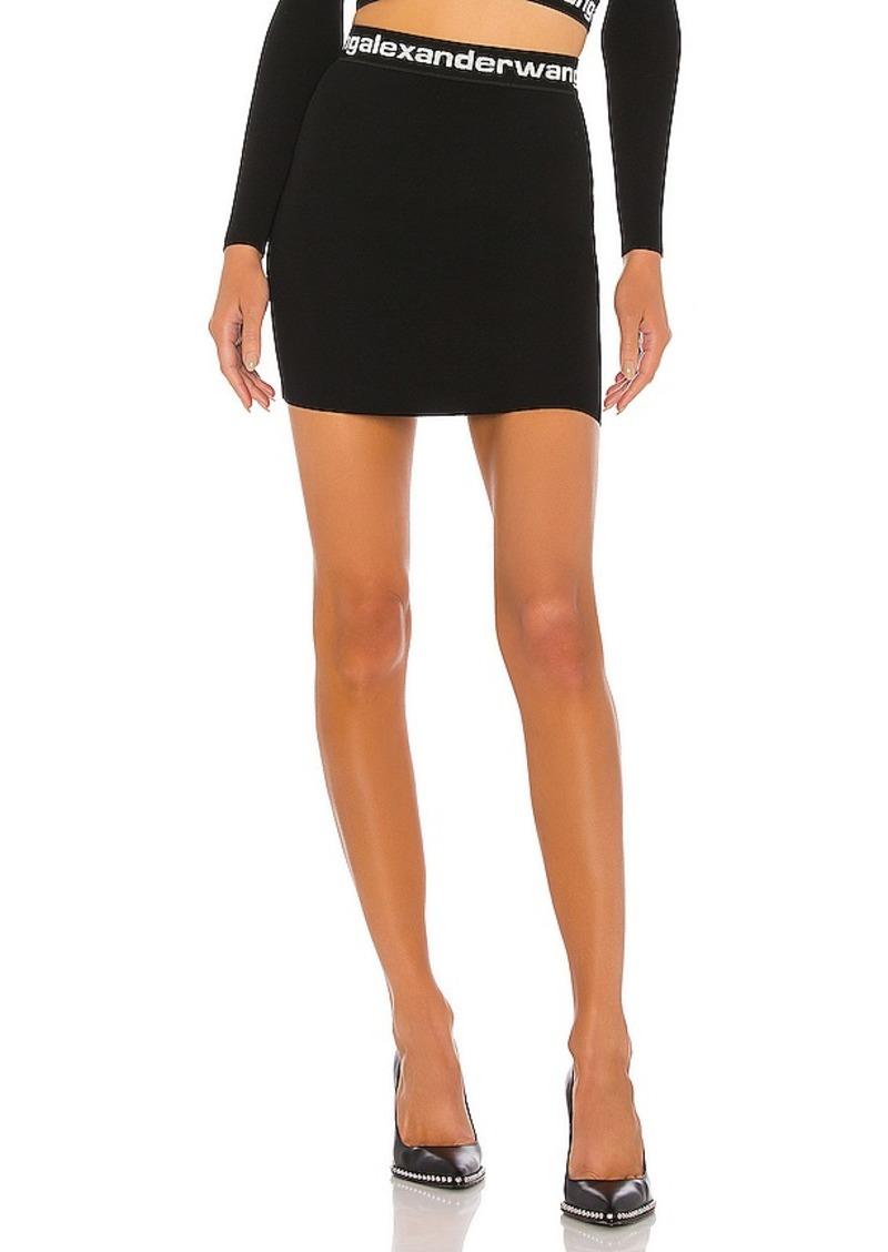 T by Alexander Wang Bodycon Bi Layer Mini Skirt