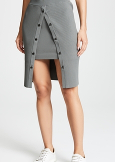 T by Alexander Wang Bodycon Double Layer Skirt with Snaps