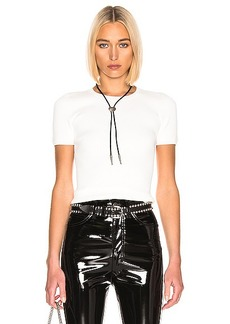 T by Alexander Wang Bodycon Short Sleeve Top