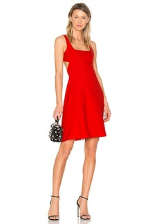 T by Alexander Wang Bralette Midi Dress in Red. - size 0 (also in 2,4)