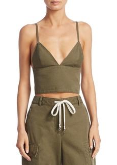 T by Alexander Wang Cargo Cotton Bra Top