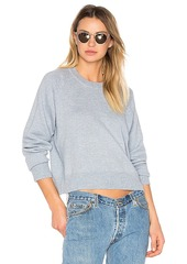 T by Alexander Wang Cashwool Crewneck Crop Sweater in Blue. - size L (also in M,XS)