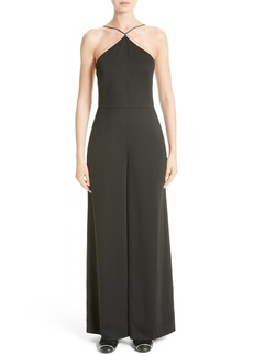 T by Alexander Wang Chain Detail Crepe Jumpsuit