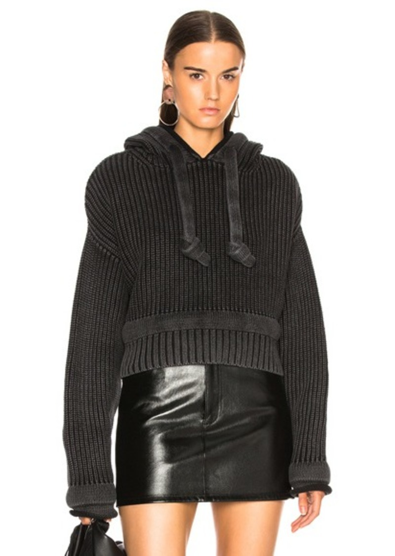 T by Alexander Wang Chunky Trim Cropped Hoodie