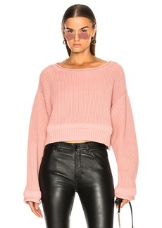 T by Alexander Wang Chunky Trim Wide Neck Sweater