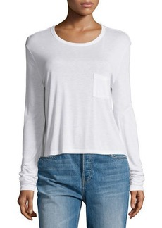 T by Alexander Wang Classic Cropped Long-Sleeve Tee