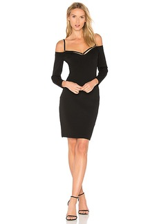 T by Alexander Wang Cold Shoulder Mini Dress in Black. - size L (also in S,XS)