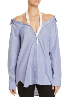 T by Alexander Wang Cold-Shoulder Shirt