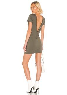 T by Alexander Wang Compact Jersey Snaps Dress