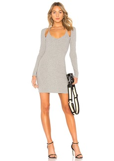T by Alexander Wang Compact Rib Cutout Dress