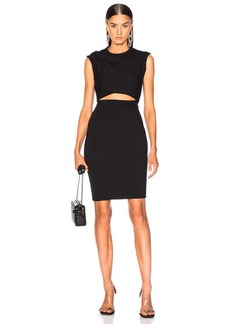 T by Alexander Wang Compact Shoulder Twist Dress