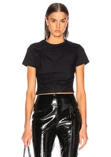 T by Alexander Wang Compact Twist Short Sleeve Top