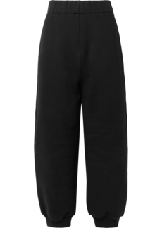 T by Alexander Wang Cotton-fleece track pants