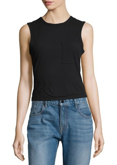 T by Alexander Wang Cotton Jersey Twist-Back Tank
