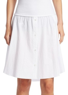 T by Alexander Wang Cotton Poplin Skirt