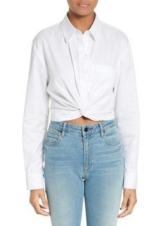 T by Alexander Wang Cotton Twist Hem Shirt