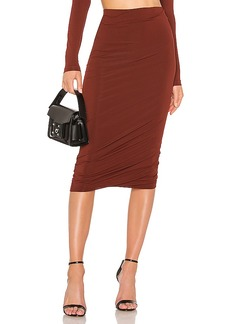 T by Alexander Wang Crepe Jersey Twisted Skirt