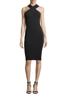 T by Alexander Wang Crisscross Sleeveless Body-con Stretch-Jersey Dress