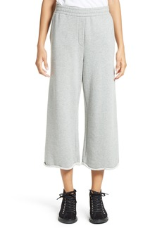 T by Alexander Wang Crop Wide Leg Sweatpants