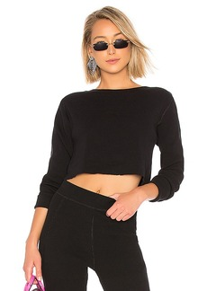 T by Alexander Wang Cropped Boatneck Sweater