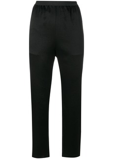 T By Alexander Wang cropped lightweight trousers - Black