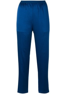 T By Alexander Wang cropped lightweight trousers - Blue