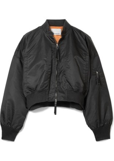 T by Alexander Wang Cropped shell bomber jacket