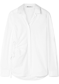 T by Alexander Wang Cutout Cotton-poplin Shirt