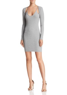 T by Alexander Wang Cutout Knit Dress