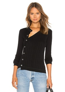 T by Alexander Wang Deconstructed Placket Sweater Top