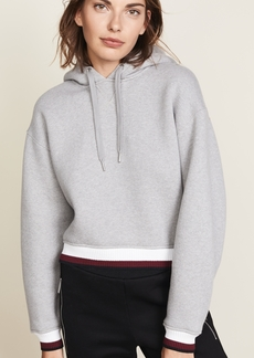 T by Alexander Wang Dense Cardigan with Striped Trim