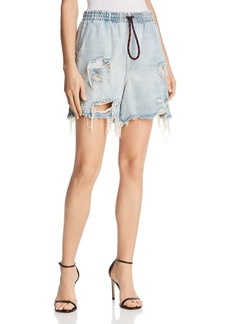 T by Alexander Wang Distressed Denim Shorts