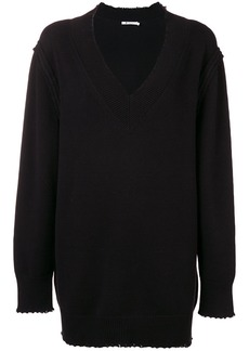 T By Alexander Wang distressed sweater dress - Black