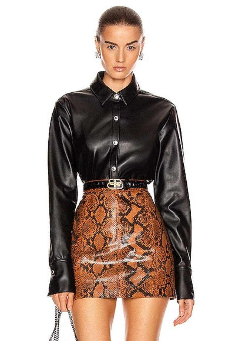 T by Alexander Wang Faux Leather Shirt