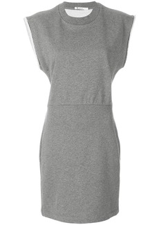 T By Alexander Wang fitted jersey dress - Grey