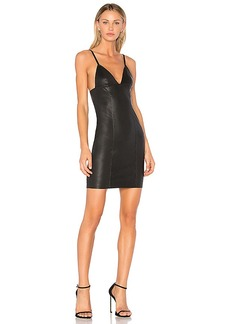 T by Alexander Wang Fitted Leather Dress in Black. - size 0 (also in 2,4,6)