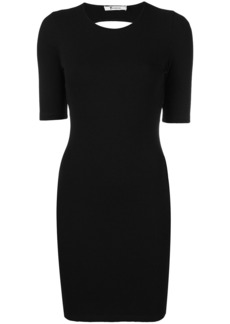 T By Alexander Wang fitted open back dress - Black