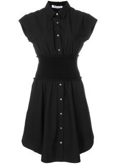 T By Alexander Wang flared shirt dress - Black