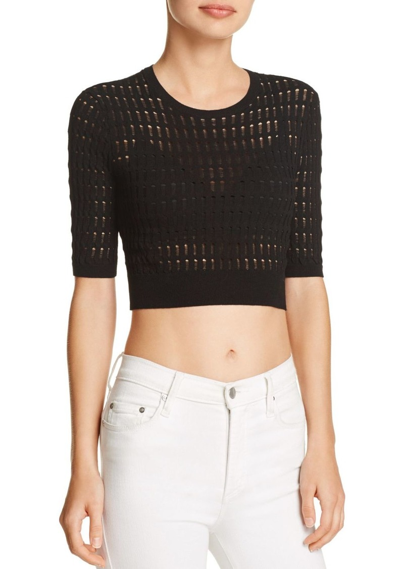 bbc462a188a88 T by Alexander Wang T by Alexander Wang Float-Stitch Crop Top Now ...